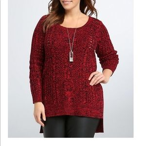 Torrid Size 1 1x cable knit sweater